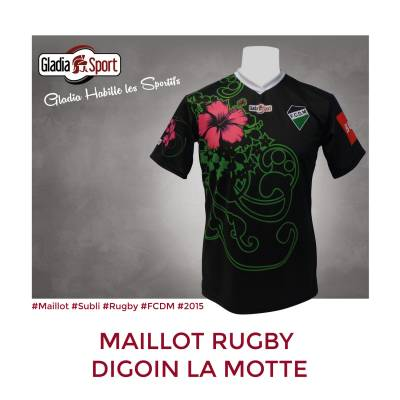 [Réalisation] Les maillots du Rugby Digoin la Motte.