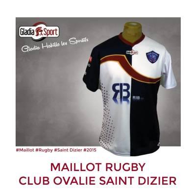 [Réalisation] Les nouveaux maillots du Rugby Club Ovalie Saint Dizier.