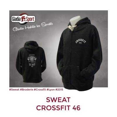 [Réalisation] Les Sweats zippés Crossfit 46 !