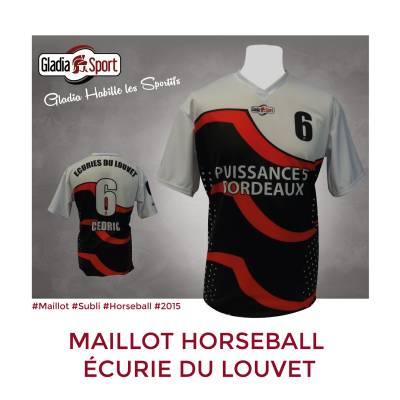 [Réalisation] Les maillots du club de Horseball de l'écurie du Louvet.