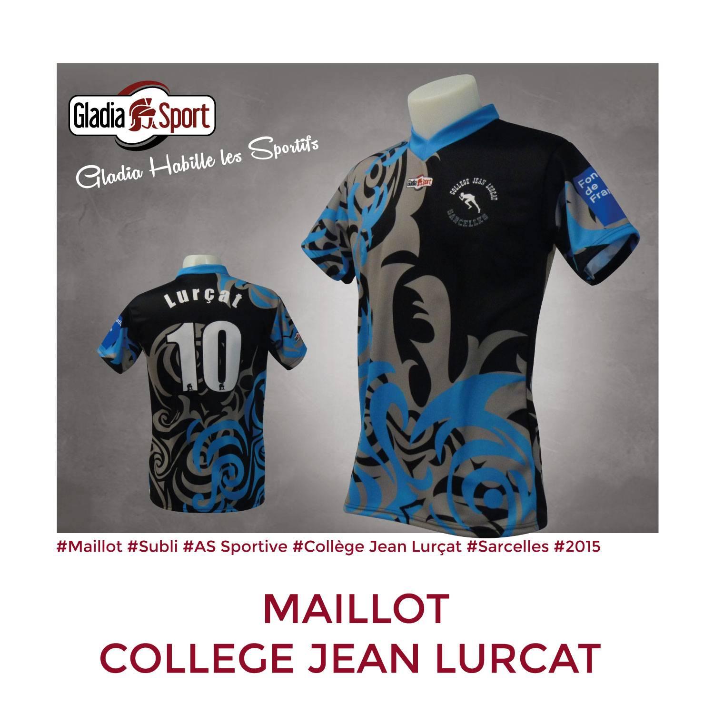 [Réalisation] Les nouveaux maillots du Collège Jean Lurçat.