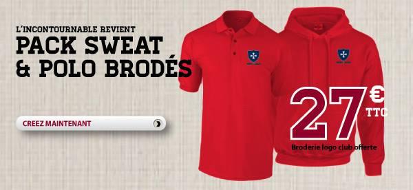 [Promotion]Le pack Sweat et Polo brodé pour les clubs