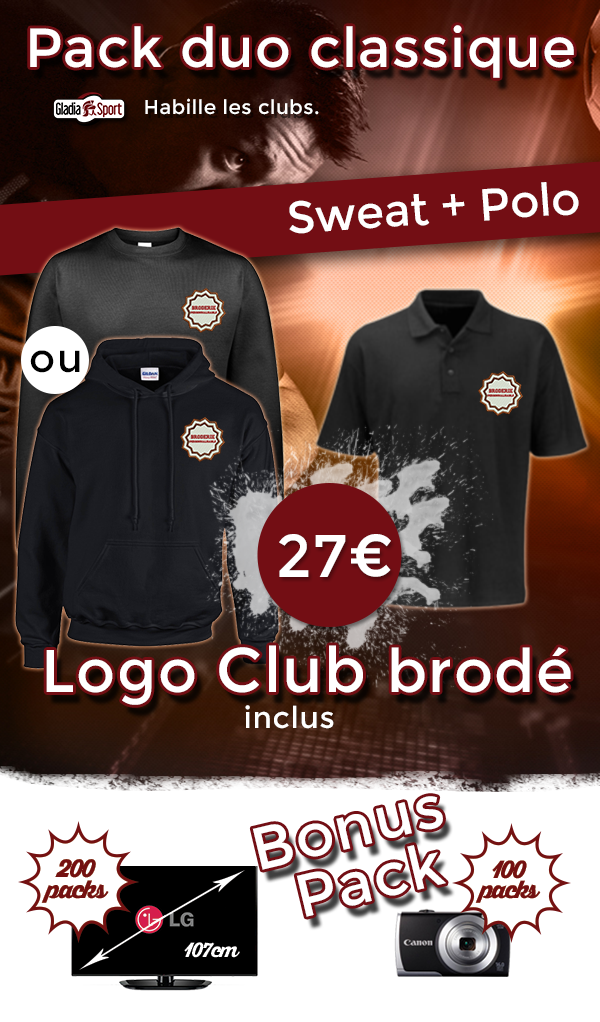 Pack sweat et polo Club