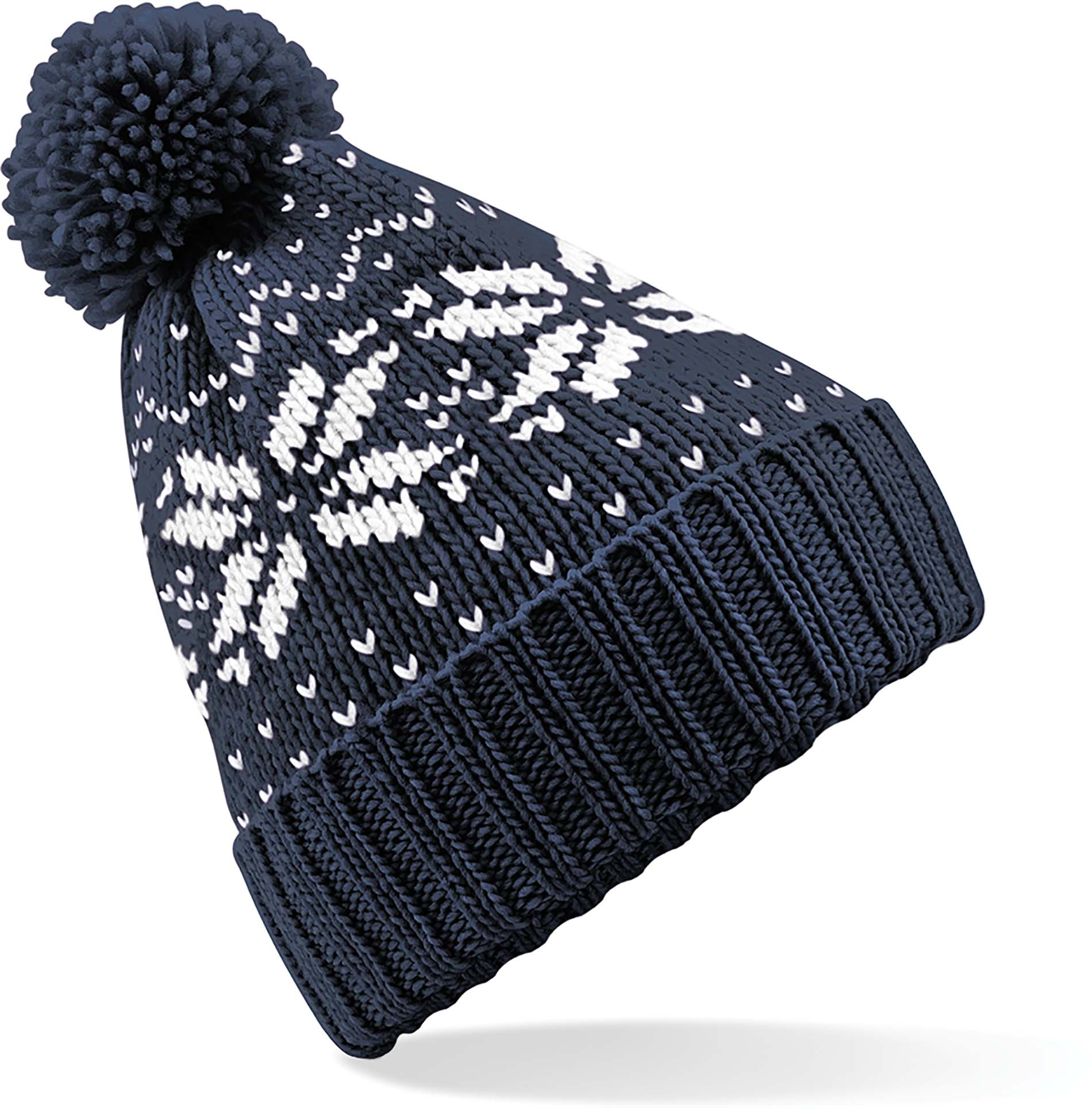 Bonnet Snowstar jacquard French Navy / White Bleu