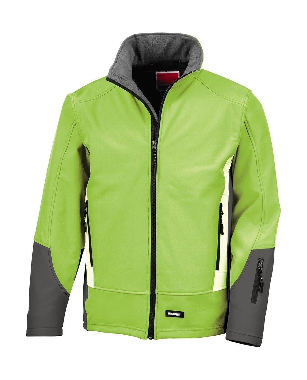 Blade Soft Shell Jacket Lime/Charcoal/Pale Grey Vert