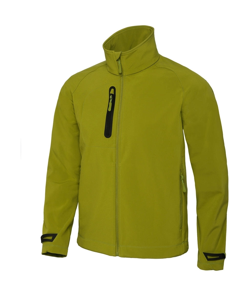 Men Technical Softshell Jacket - JM951 Green Moss Vert