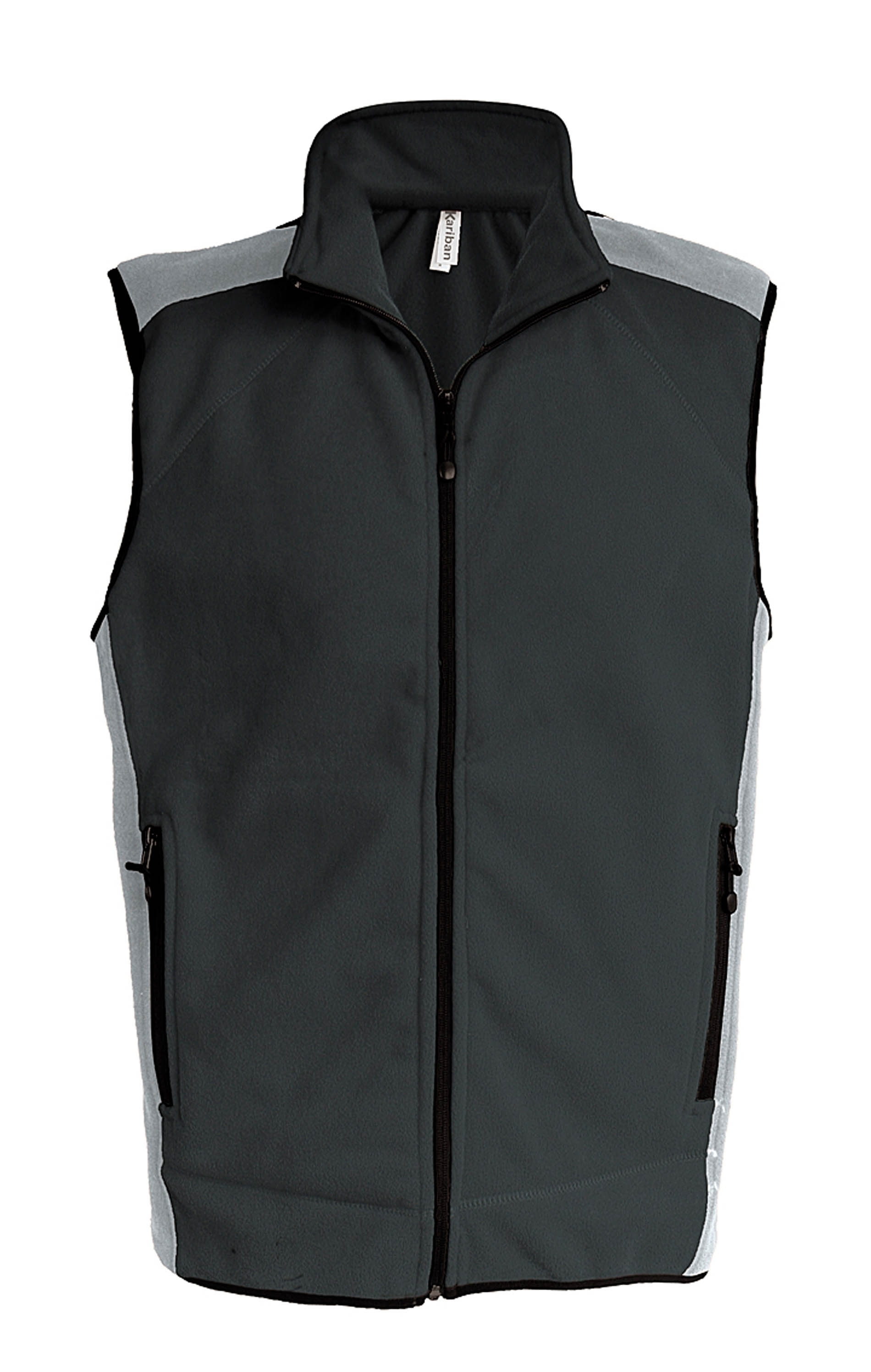 DIVO_ Gilet micropolaire bicolore Dark Grey / Light Grey Gris