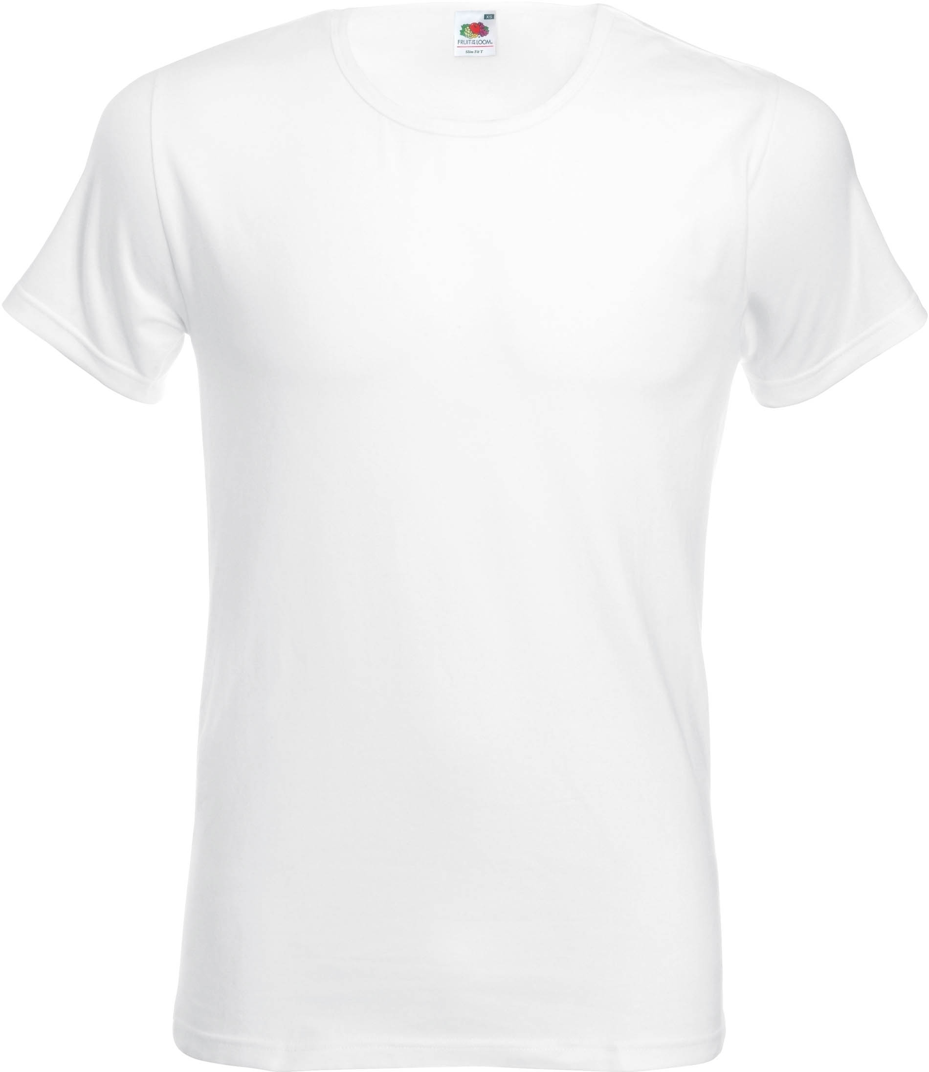 T-shirt homme SLIM FIT T col rond White Blanc
