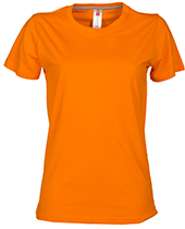 Tshirt Sunset Lady ORANGE ORANGE