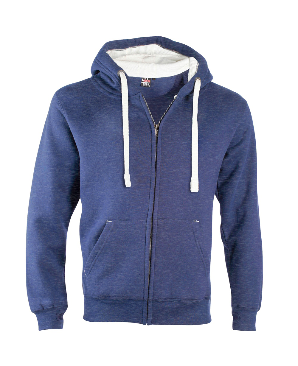 Sweat DELUXE ZIP Royal chiné Bleu