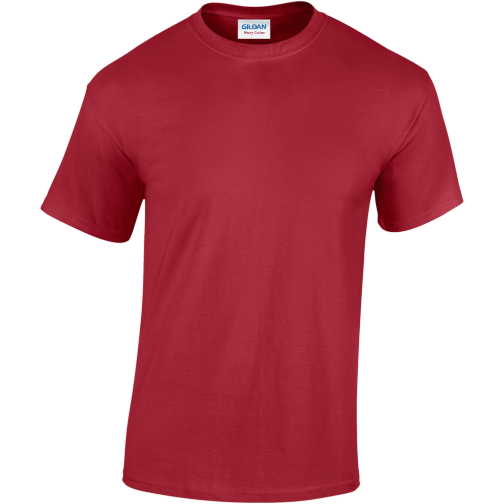 T-SHIRT HOMME HEAVY COTTON™ Cardinal Red Rouge