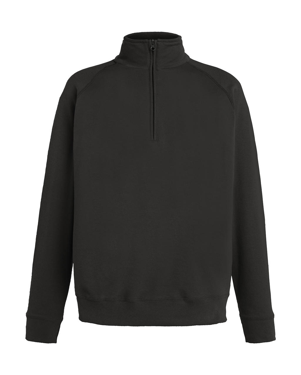 Lightweight Zip Neck Sweat Light graphite