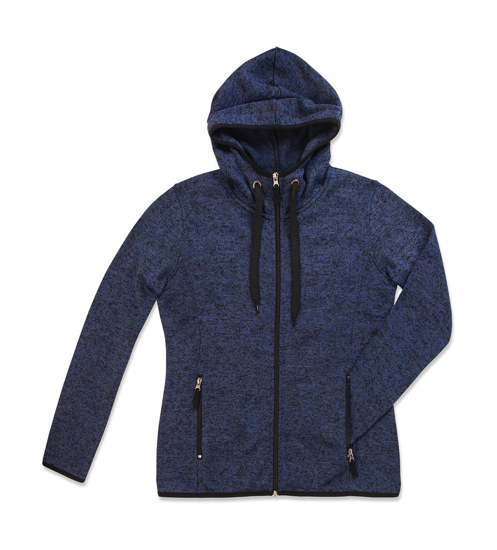 Active Knit Fleece Jacket Women Marina Blue melange