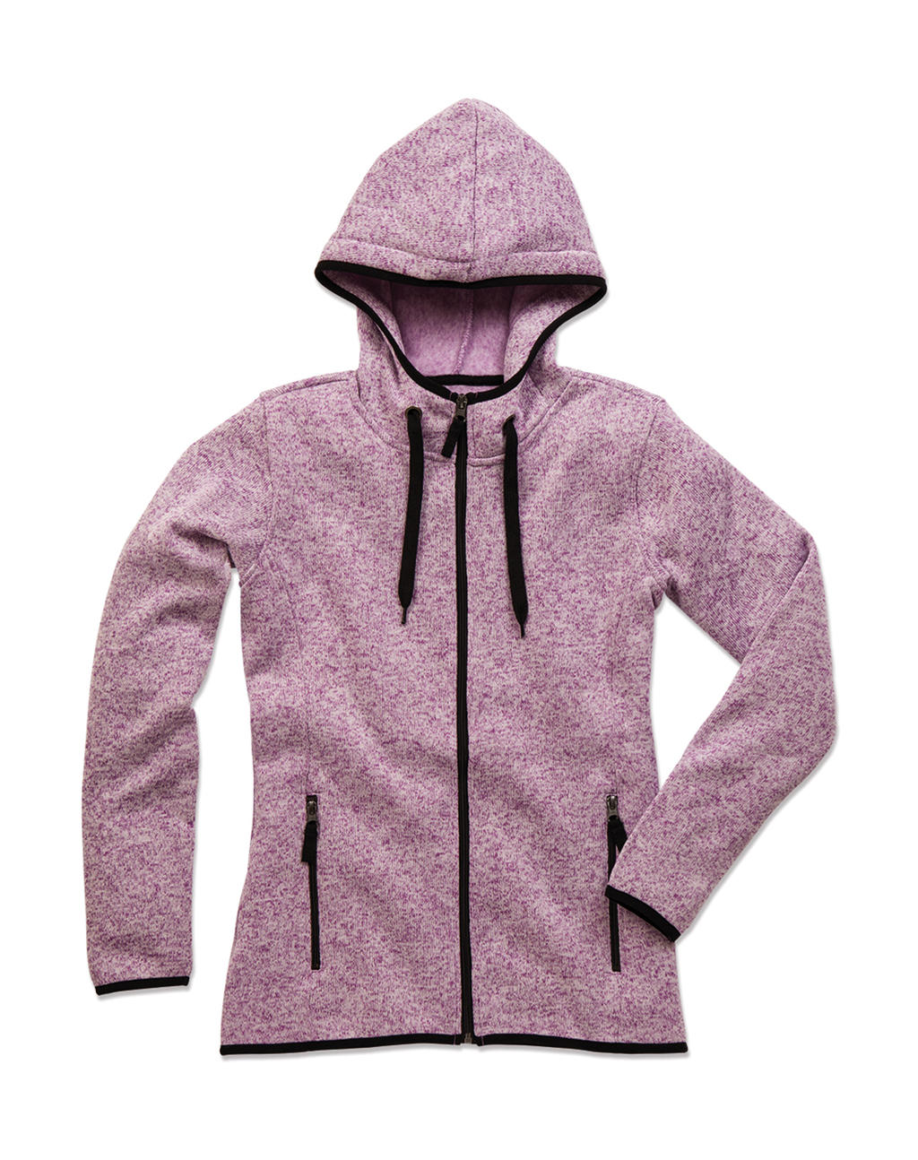 Active Knit Fleece Jacket Women Purple melange
