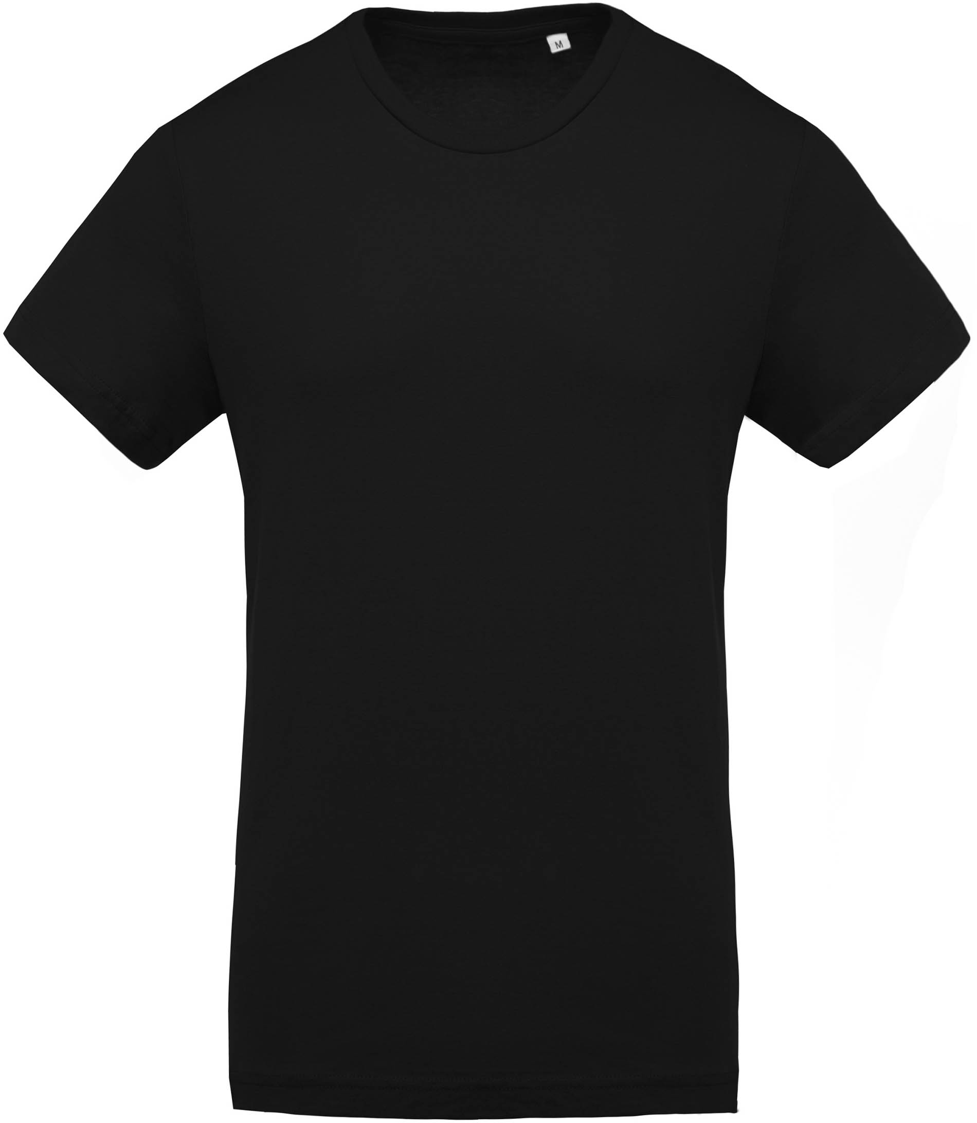 t shirt coton bio col rond homme black gladiasport. Black Bedroom Furniture Sets. Home Design Ideas