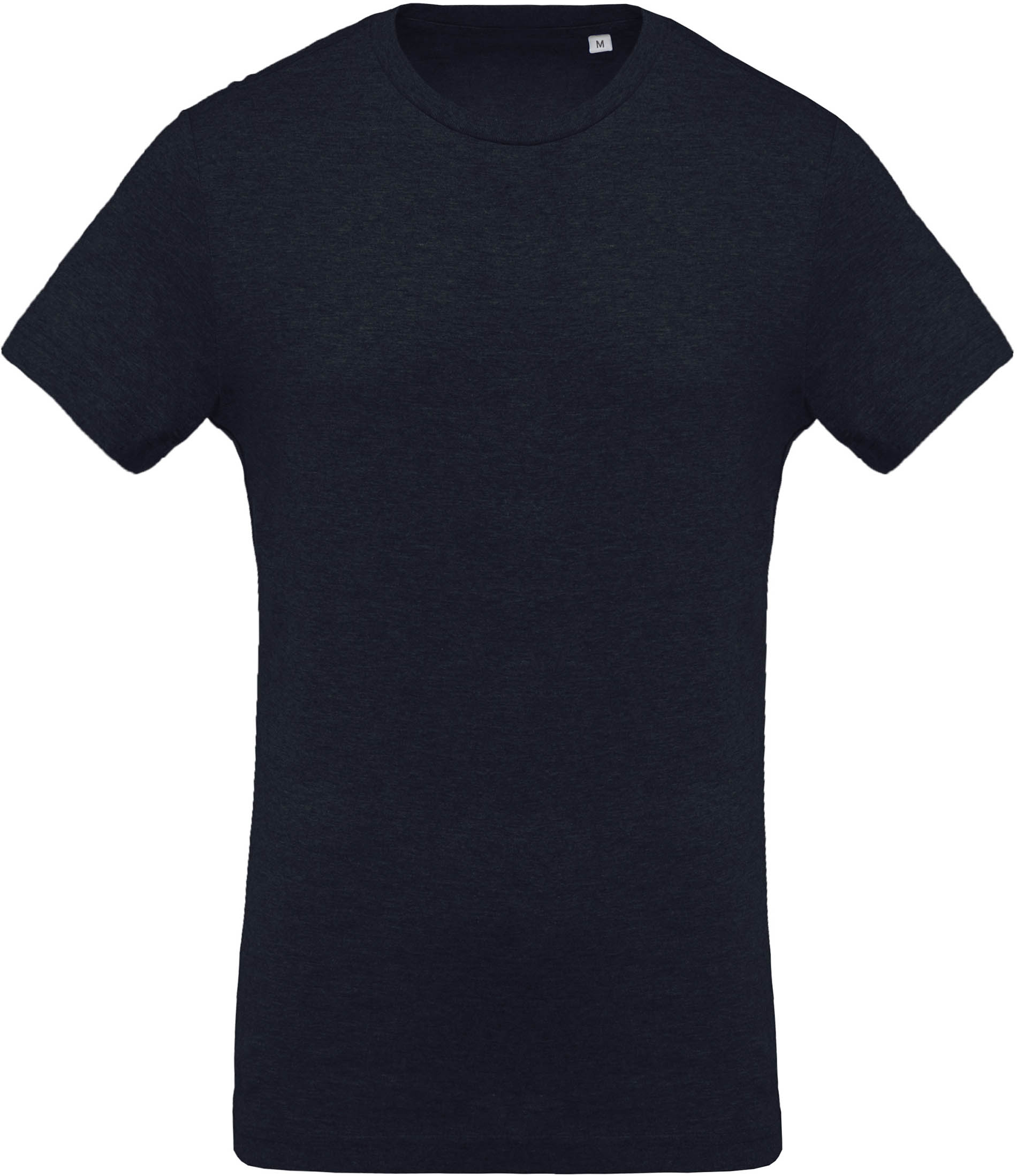 T-shirt coton BIO col rond homme French Navy Heather Bleu