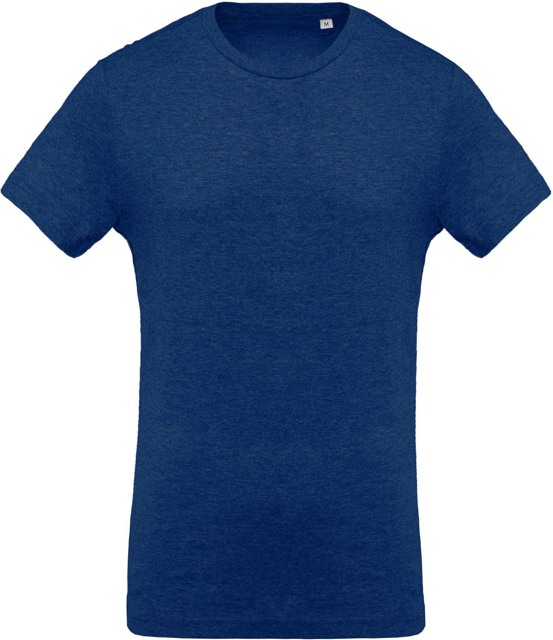 T-shirt coton BIO col rond homme Ocean Blue Heather Bleu