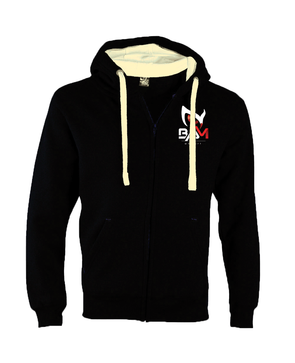 Sweat DELUXE ZIP Noir - BAM ESPORT Noir Noir