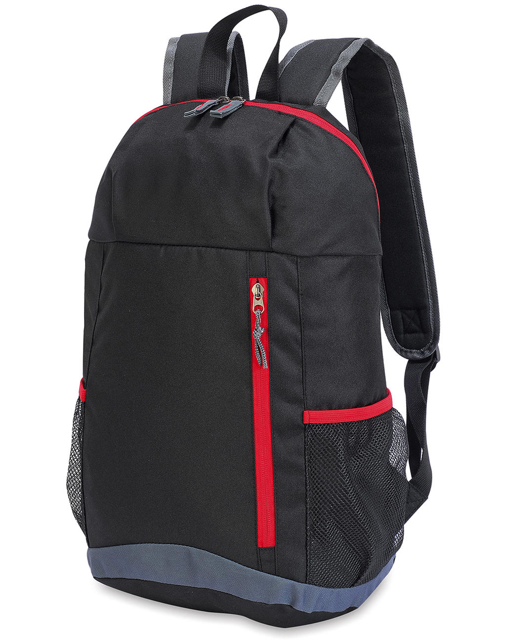 Basic Backpack Black-Red-Dark grey