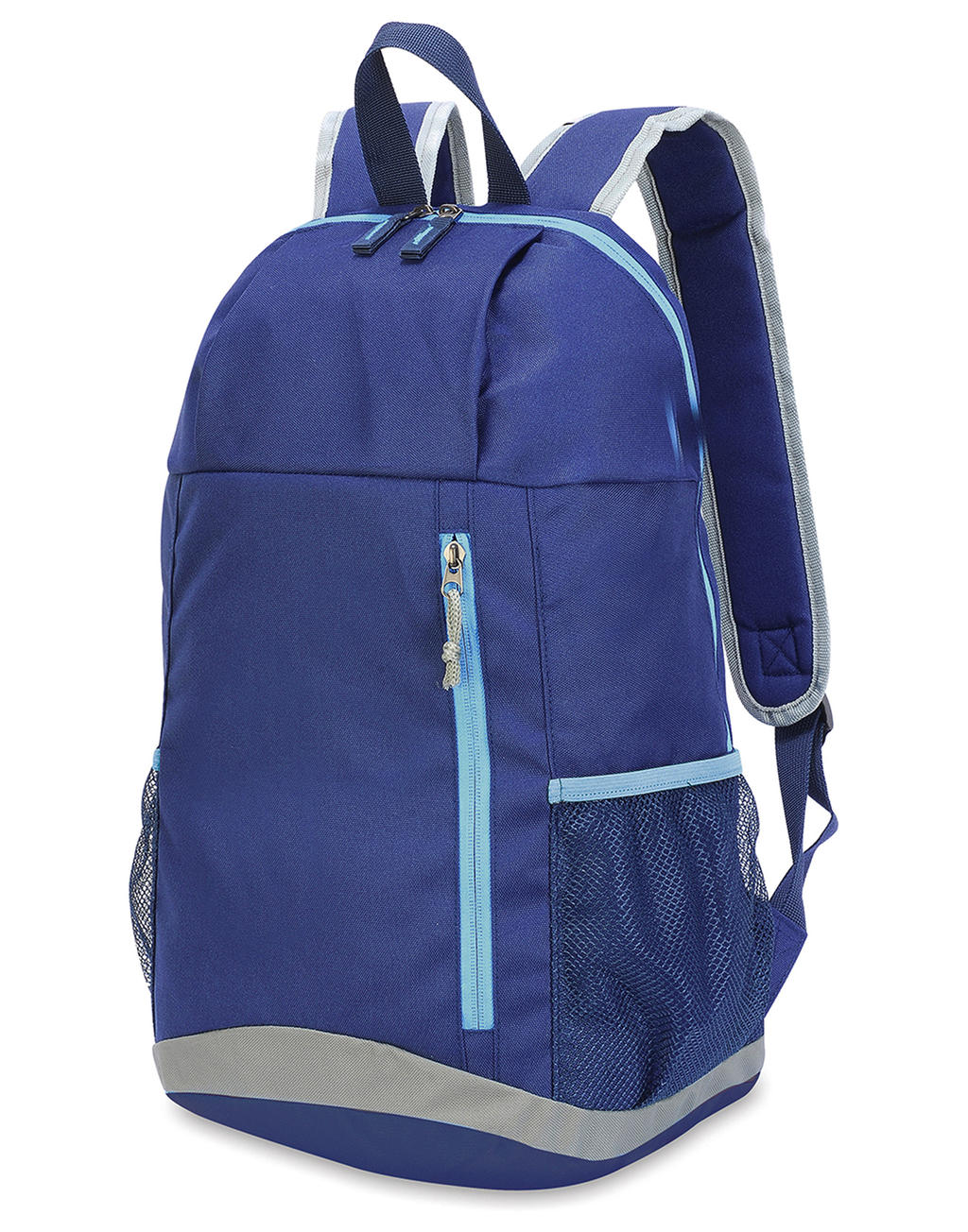 Basic Backpack French navy-Sky blue-Light