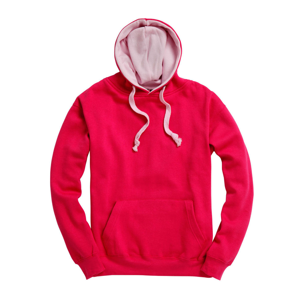 Sweat Hoodie contrasté Fuchsia-Baby_Pink