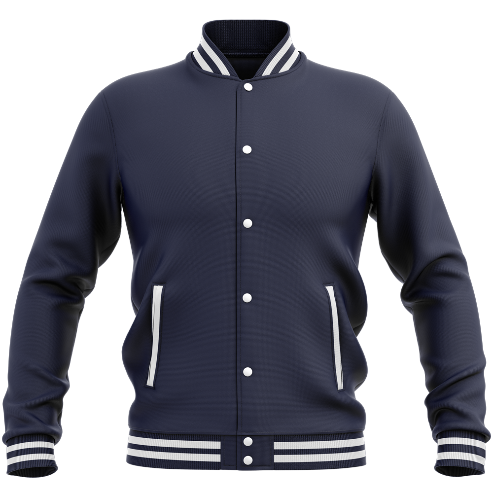 Teddy - Veste Varsity College Unie Oxford Navy Bleu