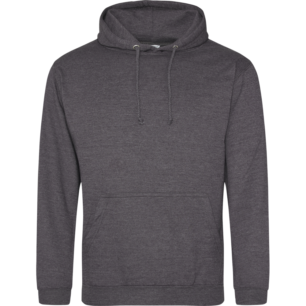 Sweat-shirt à capuche University Charcoal Gris