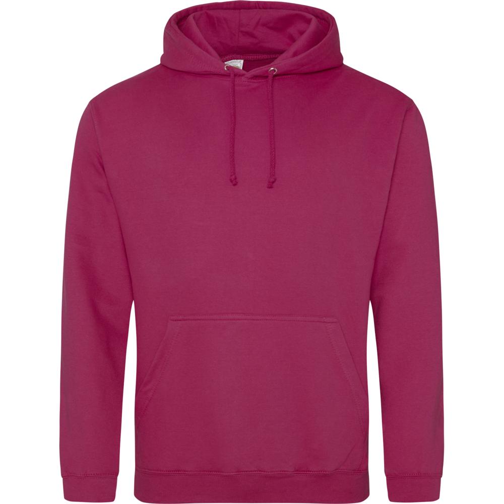 Sweat-shirt à capuche University rose Cranberry