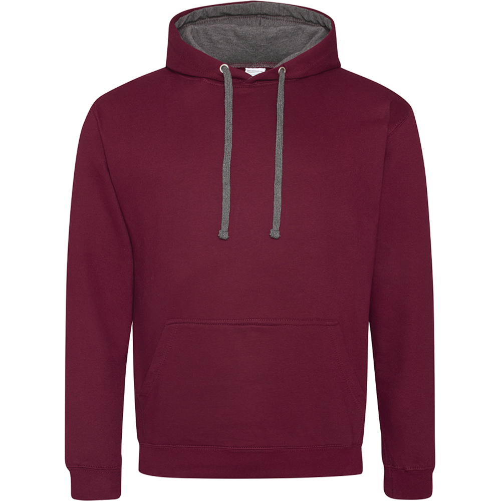Sweat-shirt capuche Bicolore Burgundy/ Charcoal Bordeaux