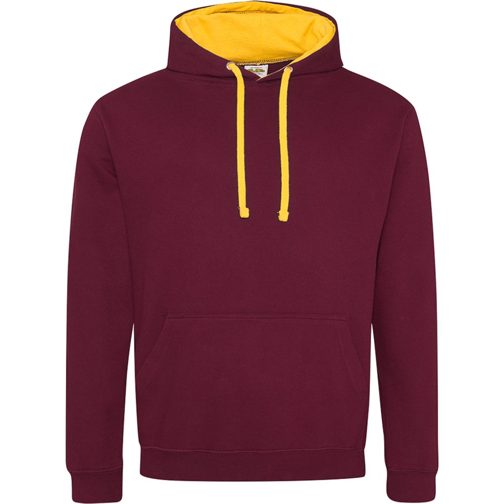 Sweat-shirt capuche Bicolore Burgundy/ Gold Bordeaux
