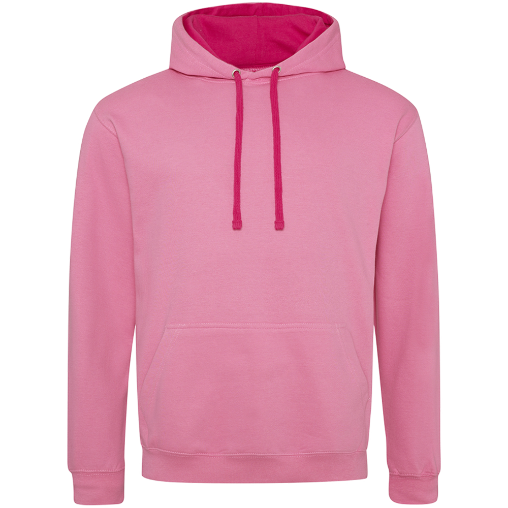 Sweat-shirt capuche Bicolore Candyfloss Pink/ Hot Pink Rose
