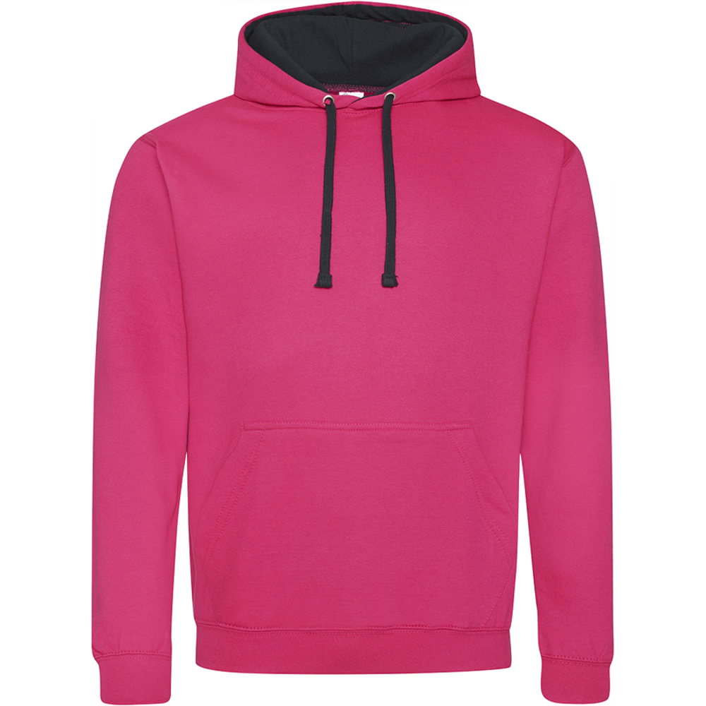 Sweat-shirt capuche Bicolor Hot Pink/  French Navy Rose