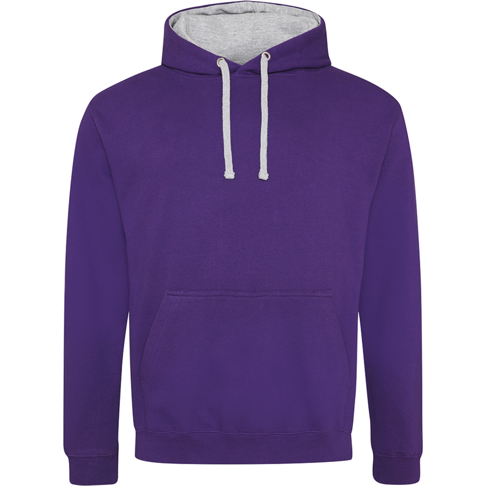 Sweat-shirt capuche Bicolor Purple/ Heather Grey Rose