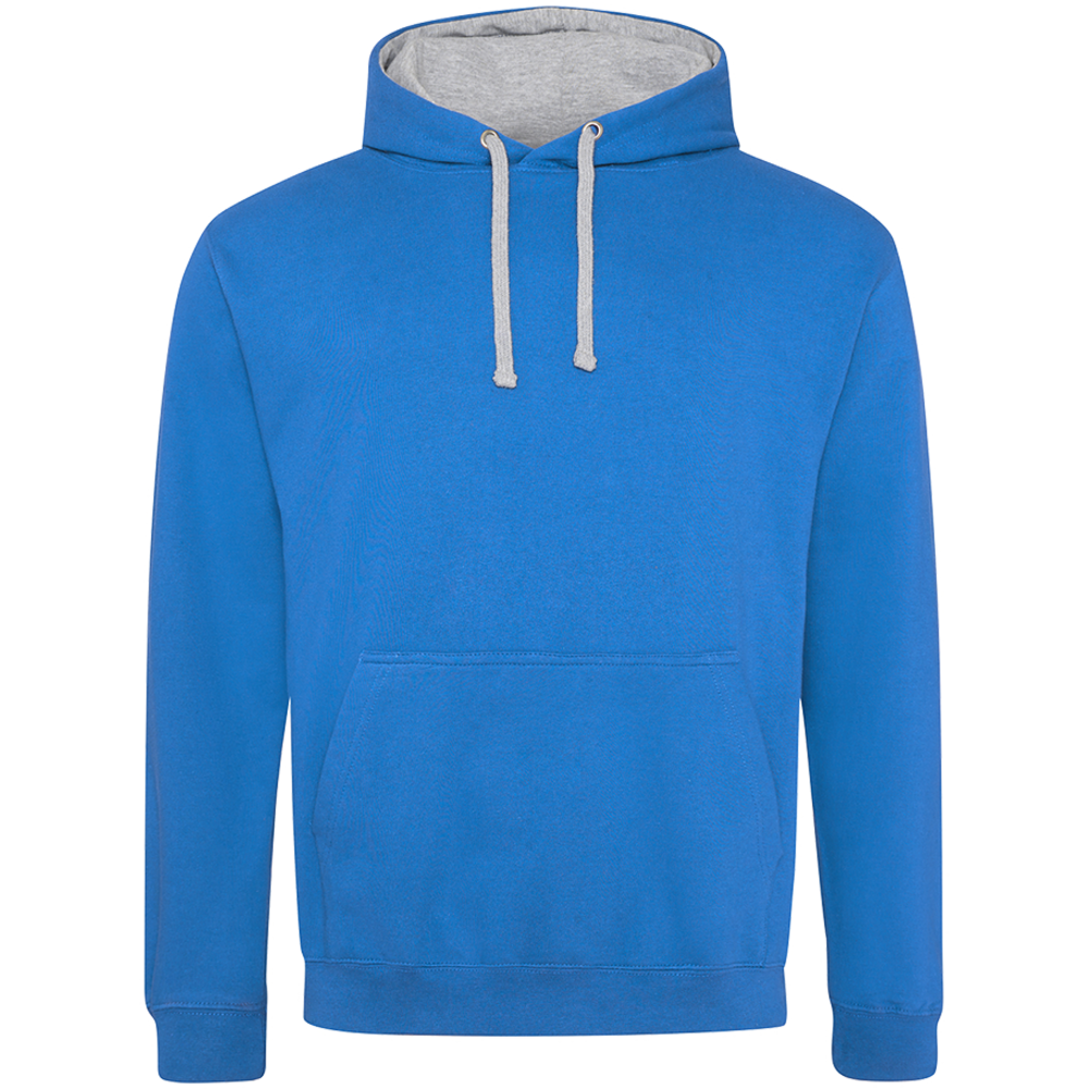 Sweat-shirt capuche Bicolore Sapphire Blue/  Heather Grey Bleu