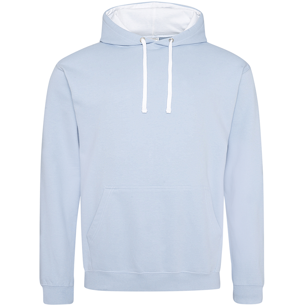 Sweat-shirt capuche Bicolore Sky/  Arctic White Bleu