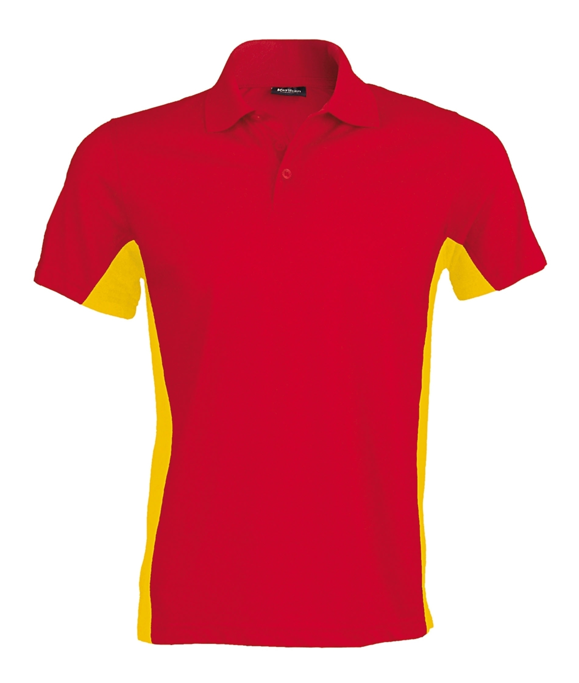 FLAG > POLO BICOLORE MANCHES COURTES Red / Yellow Rouge