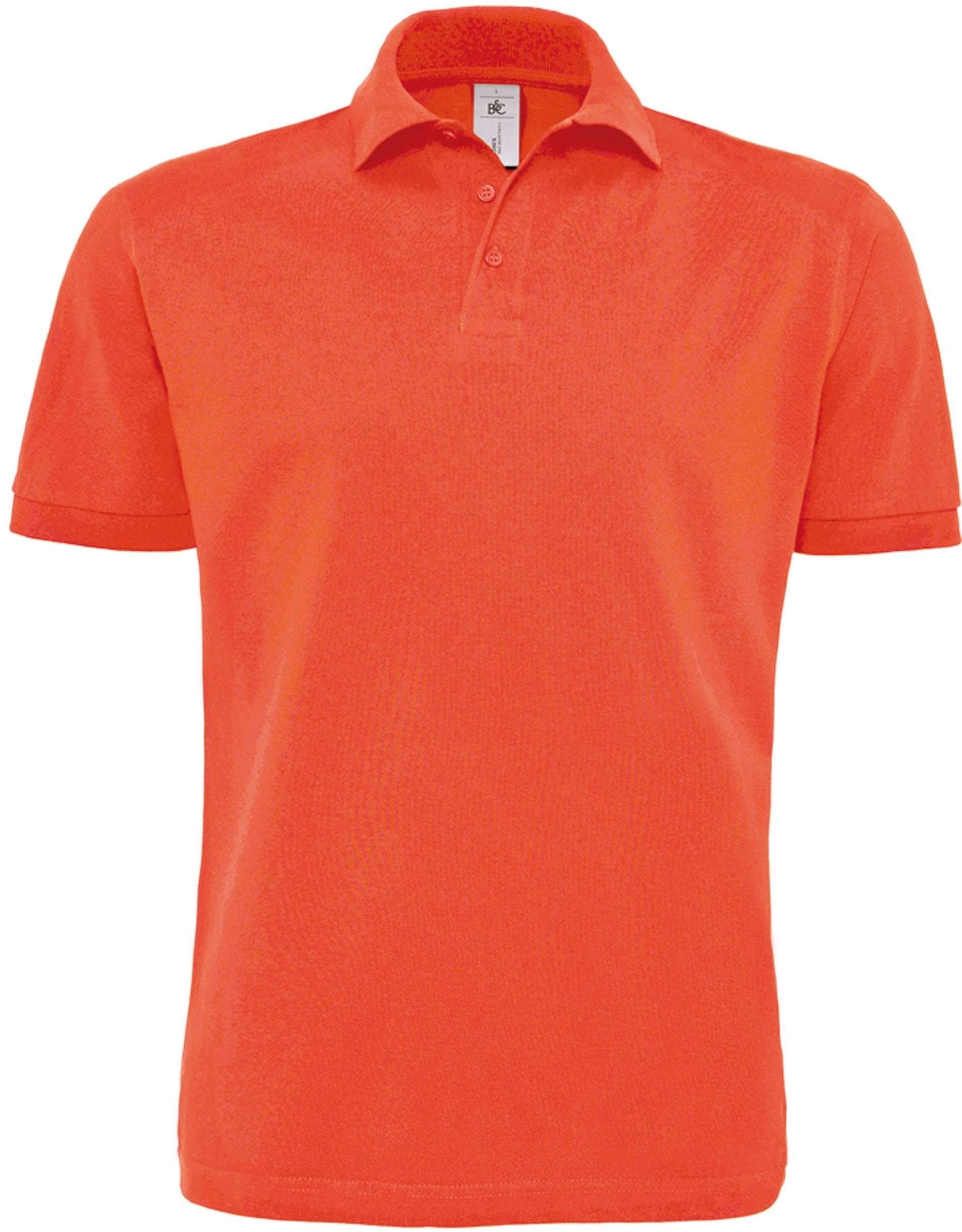 Polo homme piqué lourd HEAVYMILL Sunset Orange Orange