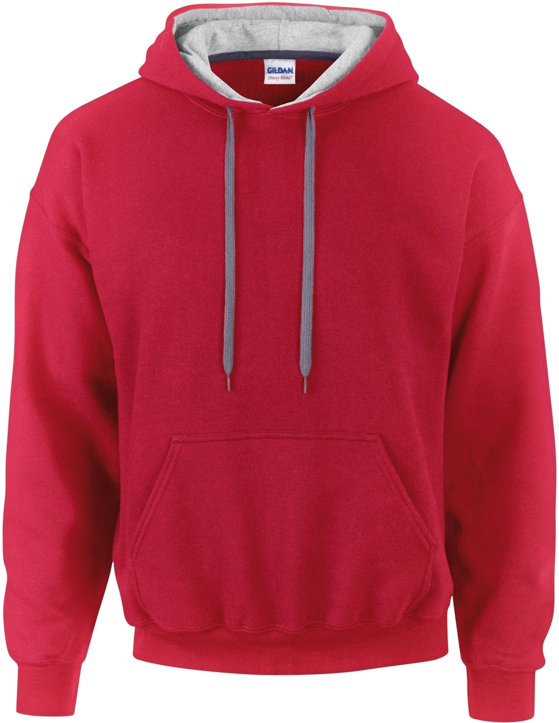 SWEAT-SHIRT CAPUCHE CONSTRASTÉE HEAVY BLEND™ Red / Sport Grey Rouge