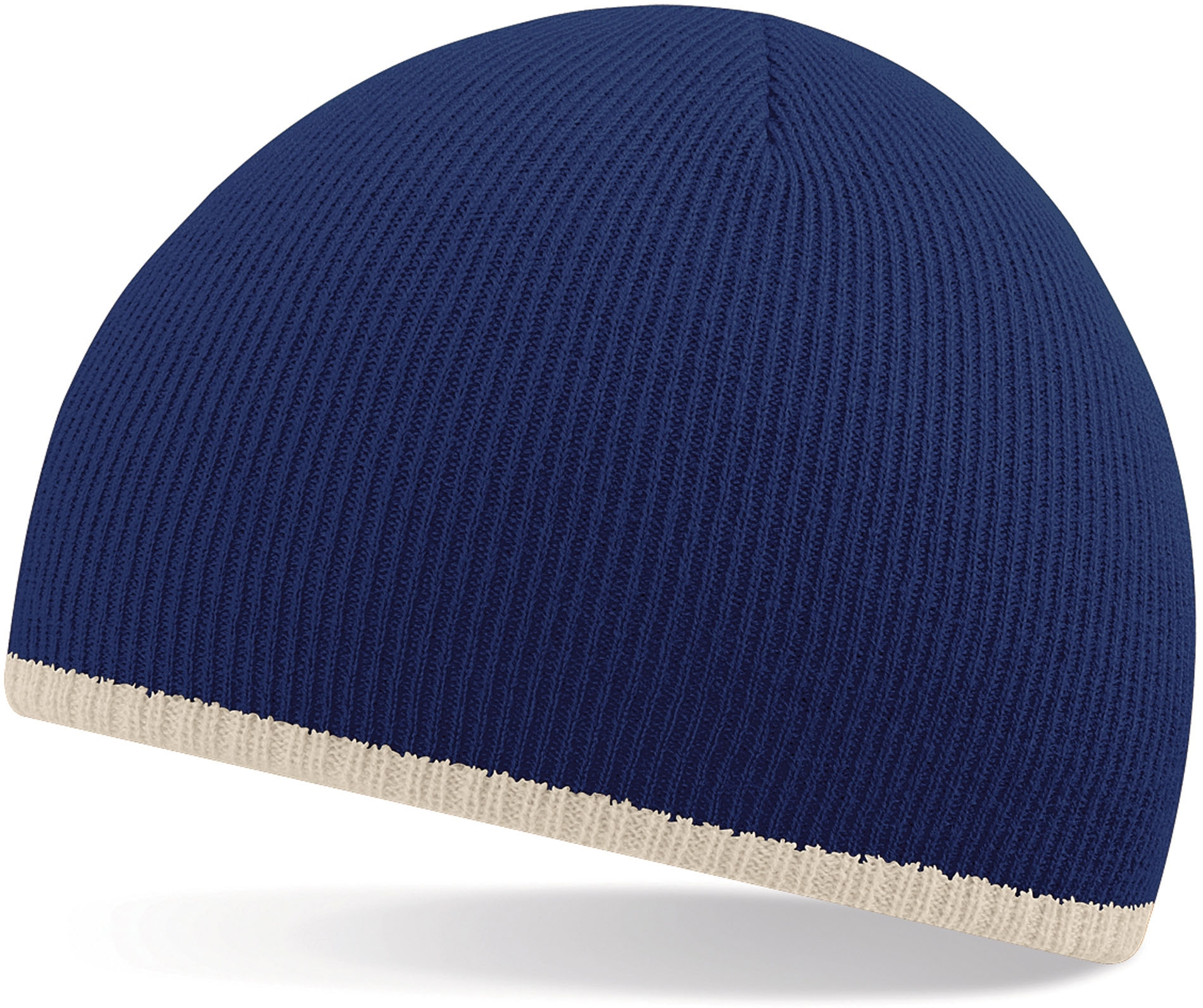 Bonnet bicolore French Navy / Stone Bleu