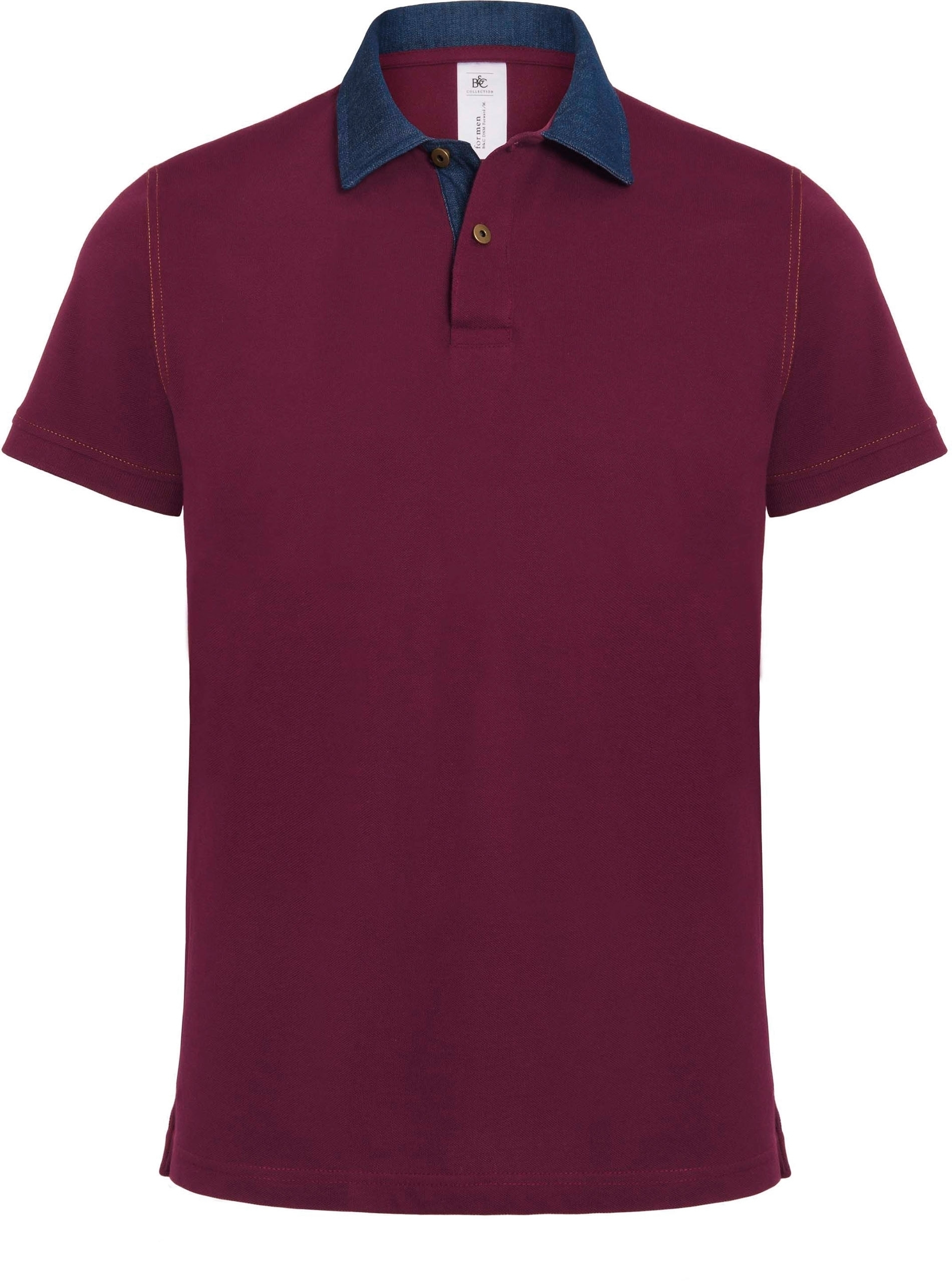 POLO HOMME DNM FORWARD Denim / Burgundy Bleu