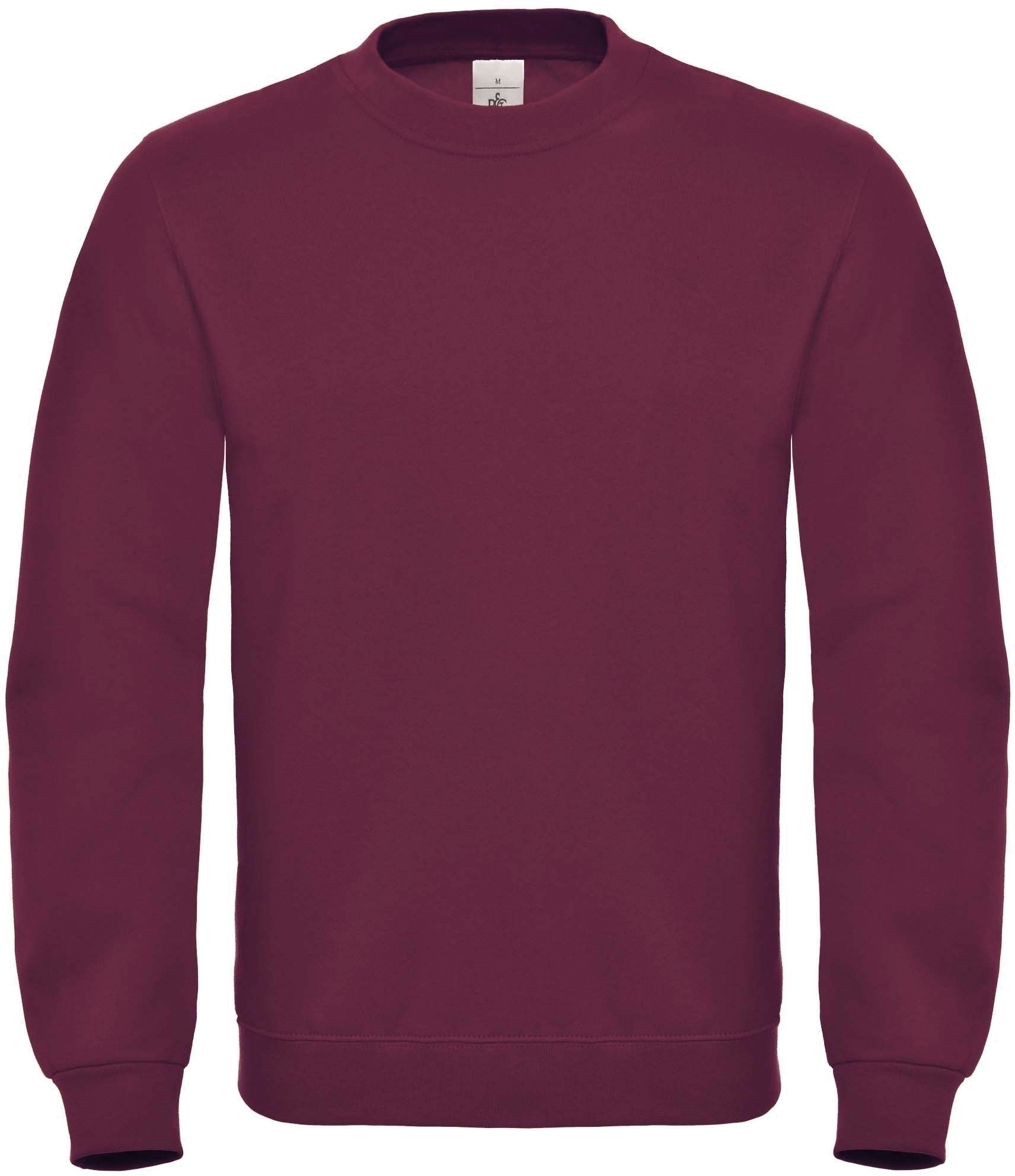 SWEAT-SHIRT COL ROND ID.002 Wine Rouge