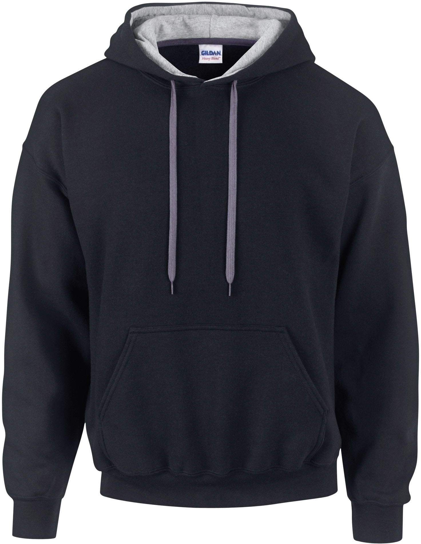 SWEAT-SHIRT CAPUCHE CONSTRASTÉE HEAVY BLEND™ Black / Sport Grey Noir
