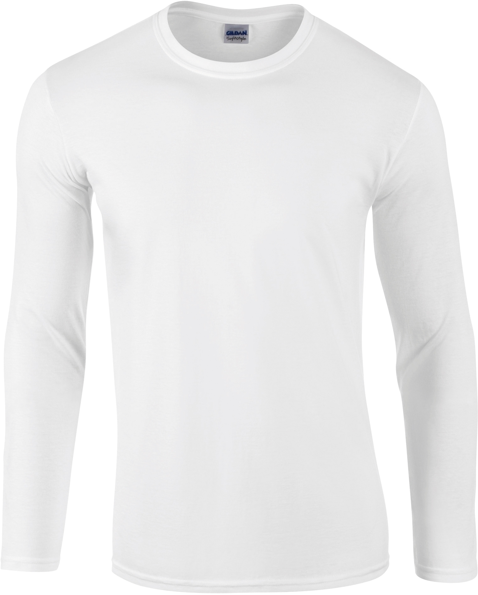 T-SHIRT HOMME MANCHES LONGUES SOFTSTYLE Blanc White