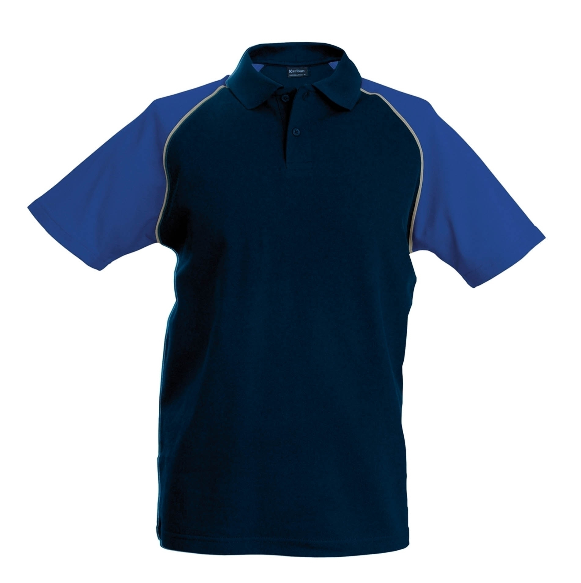 POLO BASE BALL MANCHES COURTES Navy / Royal Blue Bleu