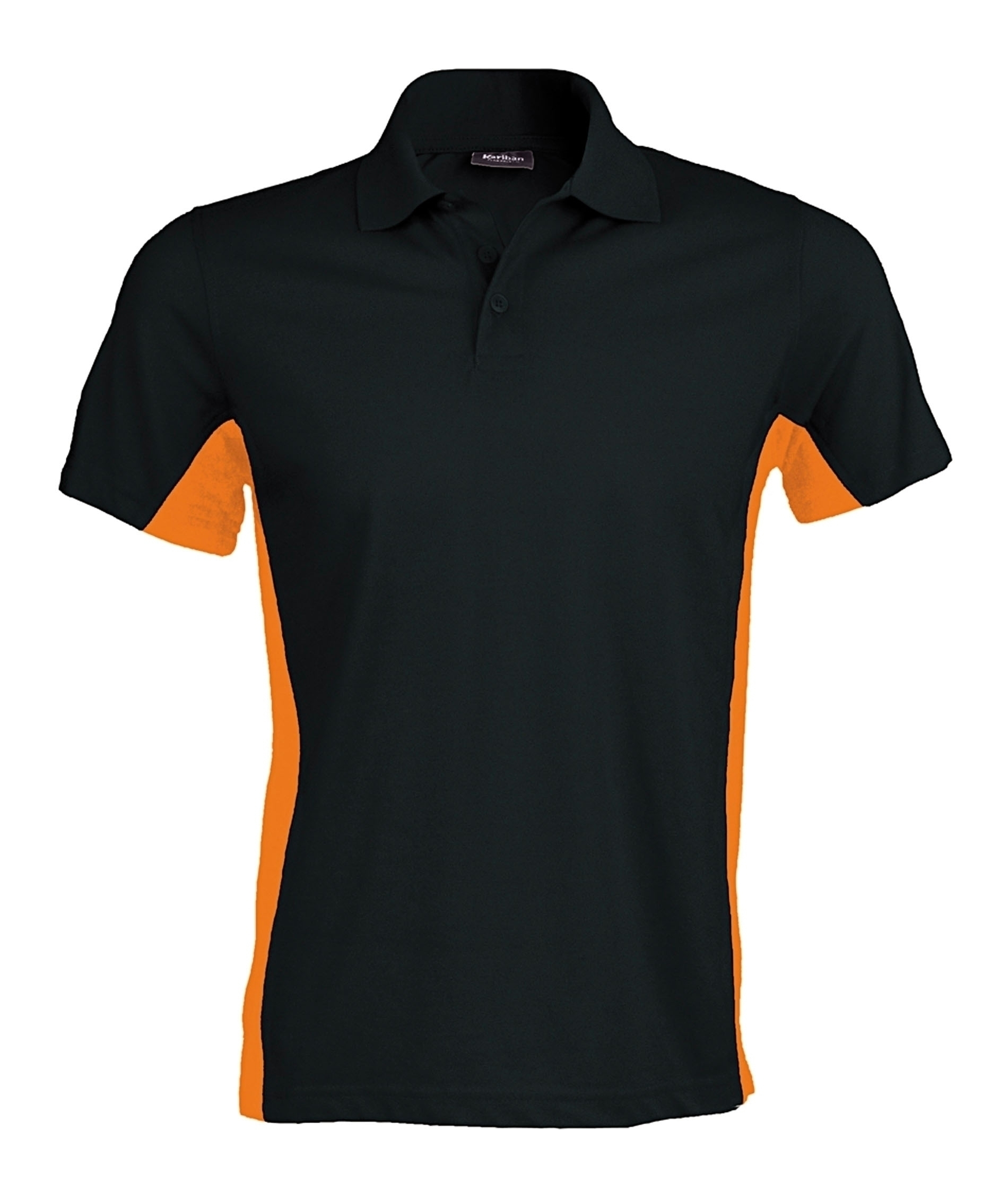 FLAG > POLO BICOLORE MANCHES COURTES Black / Orange Noir