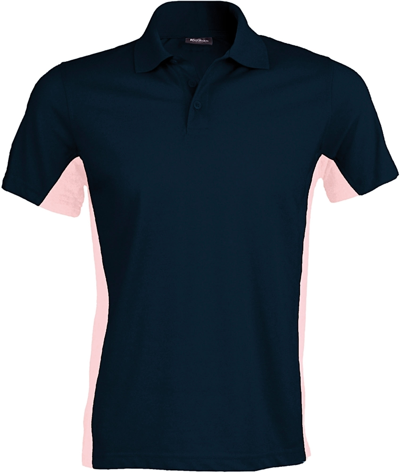 FLAG > POLO BICOLORE MANCHES COURTES Navy / Deep Pink Bleu