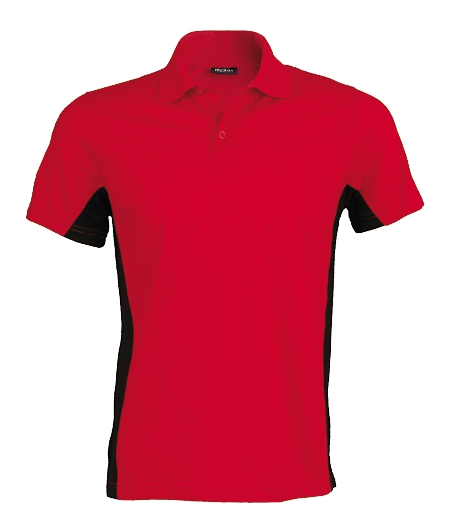 FLAG > POLO BICOLORE MANCHES COURTES Red / Black Rouge