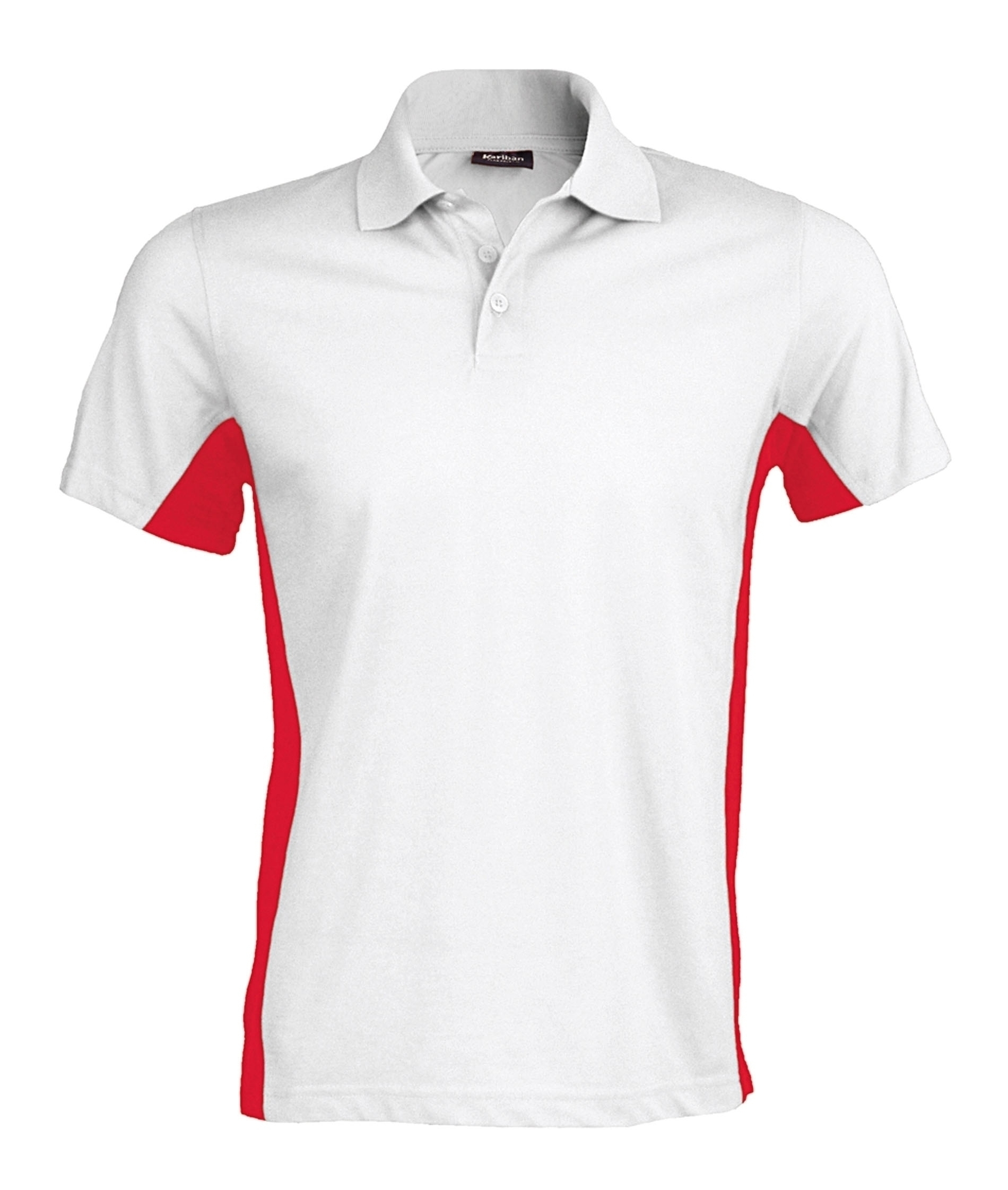 FLAG > POLO BICOLORE MANCHES COURTES White / Red Blanc