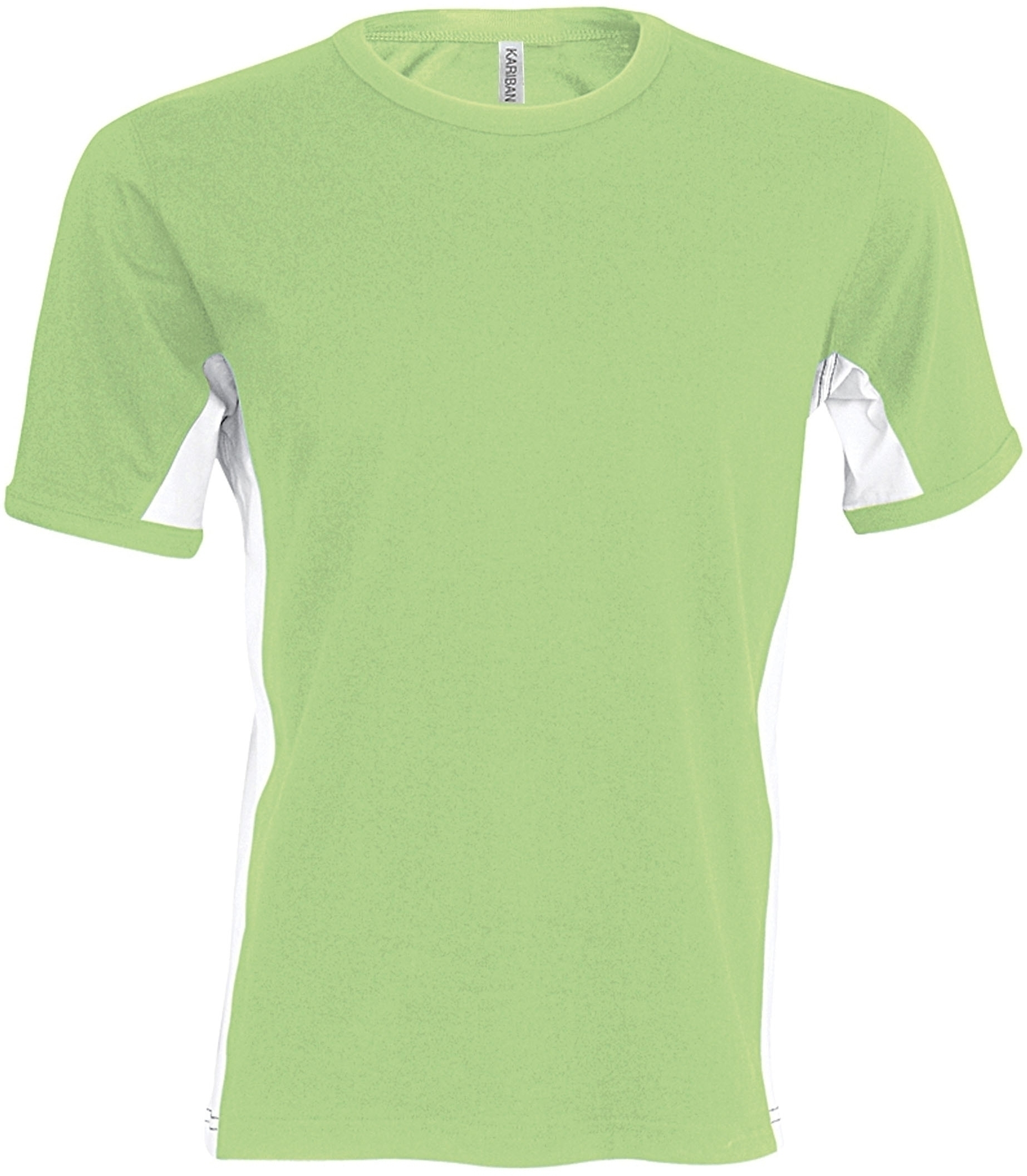 TIGER > T-SHIRT BICOLORE MANCHES COURTES Lime / White Vert