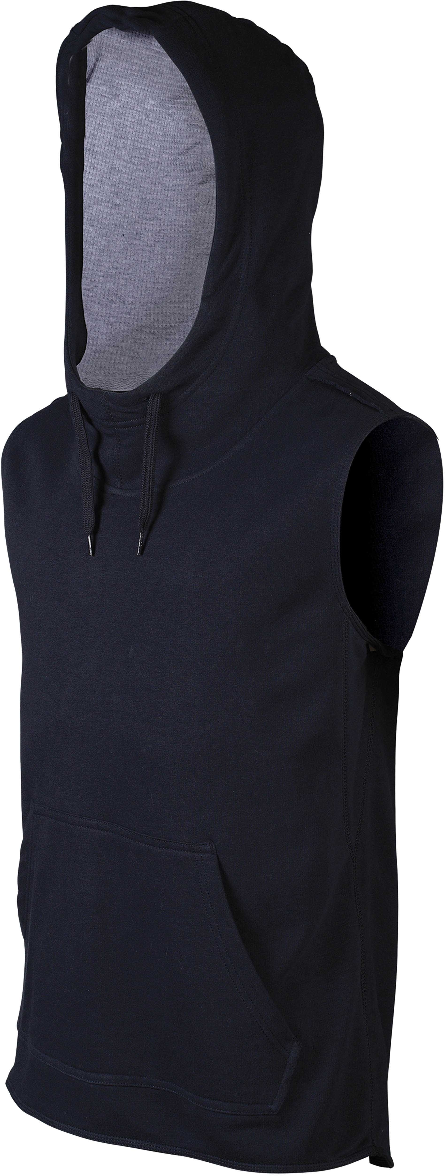 SWEAT-SHIRT CAPUCHE SANS MANCHES FRENCH TERRY Navy / Oxford Grey Bleu